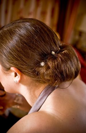 One of my Bridesmaids and her 'simply lovley' hair style...