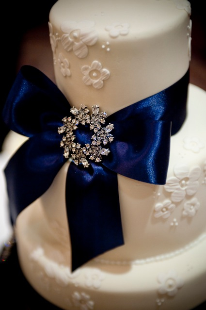 Cake by Makis Cakes Beautiful navy blue detail very Parisian chic