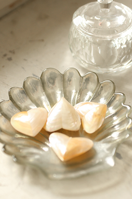 Heart Shaped Shells from The Lavender Room...