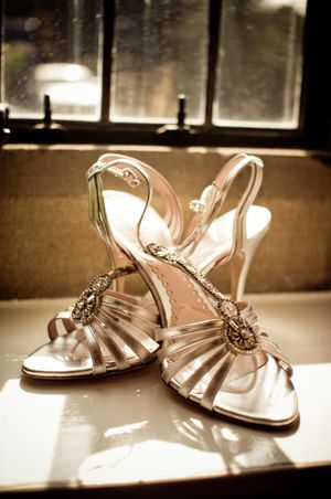 My 'Crystal Pearl' Shoes, by Emmy Custom Wedding Shoes...